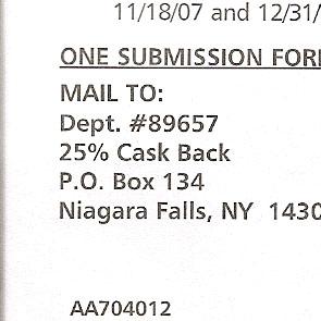 Cask Back Offer